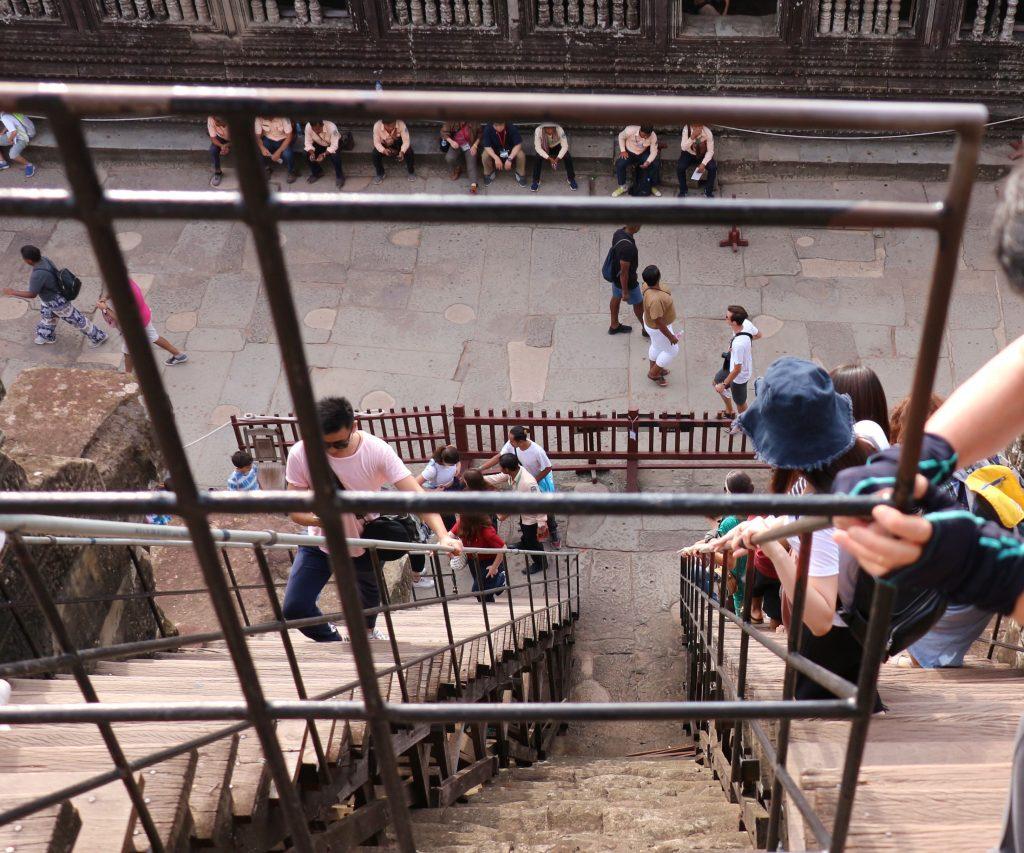アンコールワット第三回廊の階段