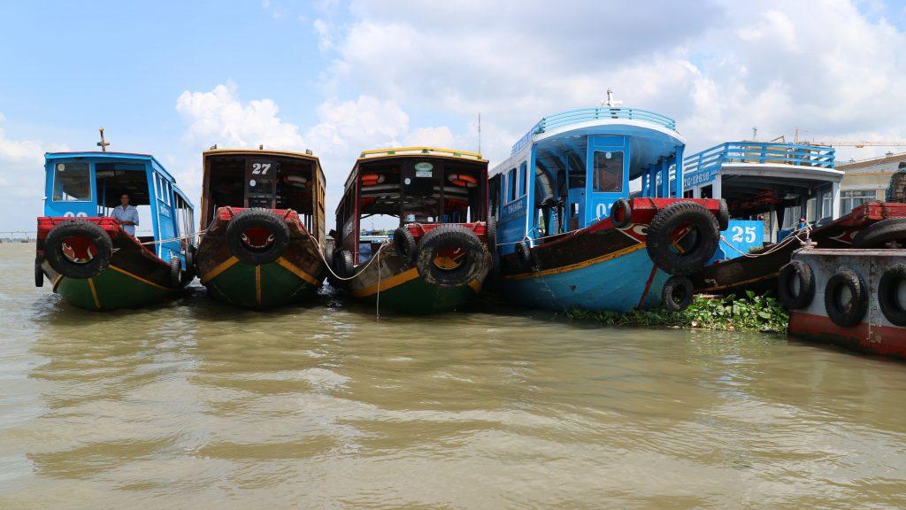 メコン川のボート