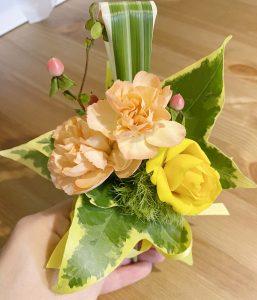 生花のブートニア